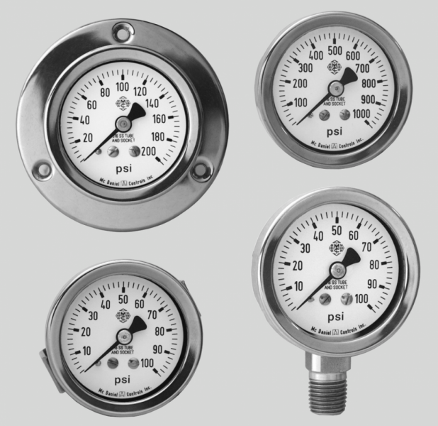 McDaniel Controls Pressure Gauges - Model Q3 image